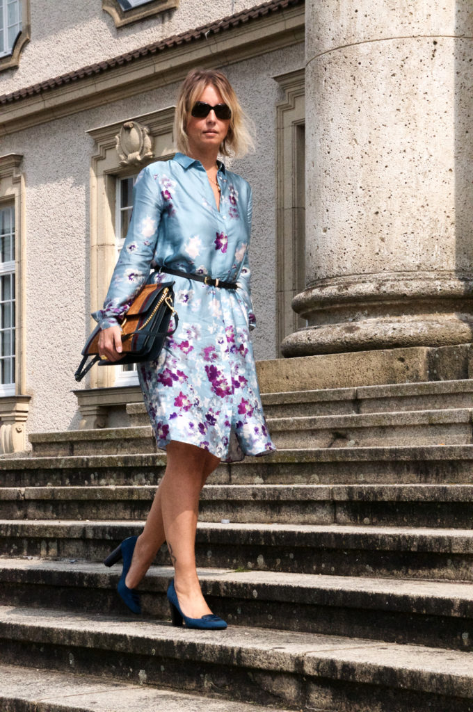 Pre Fall Style with Flowerdress and Chloé Faye