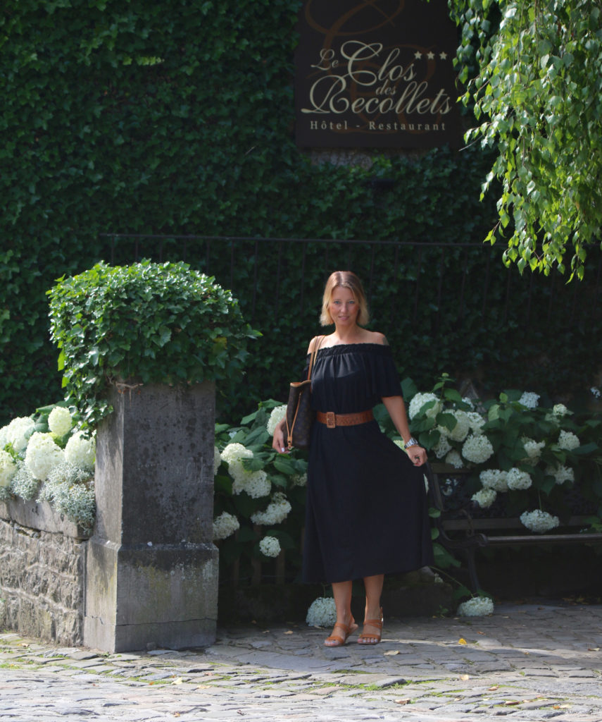 off-shoulder maxi dress - claudinesroom
