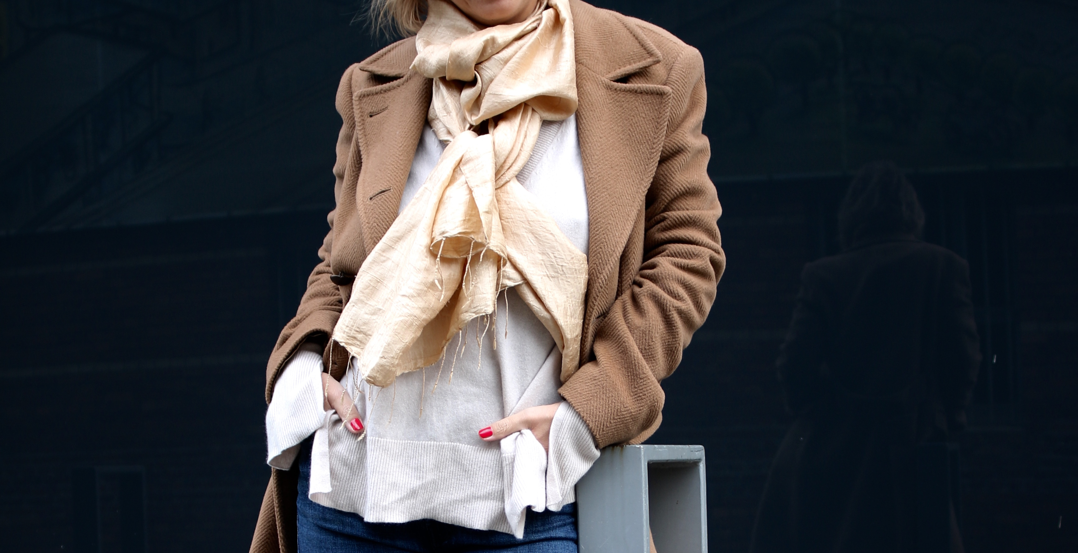 Camel coat, denim and Chloé Faye - claudinesroom